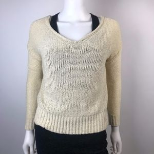 Sparkle & Fade Anthropologie Cage Back Sweater